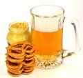 Free Pretzels, Beer And Mustard Royalty Free Stock Image - 33196756
