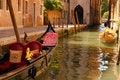 Free Venice Canal Boats Stock Photo - 33198430