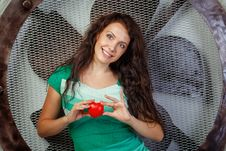 Free Girl Holding A Heart Royalty Free Stock Photo - 33193415