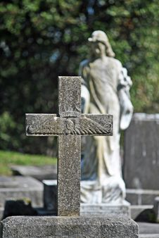 Free Pilot Cross Gravestone Stock Photos - 33196083