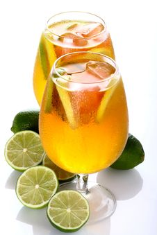 Citrus Cocktail With Lime Stock Photos