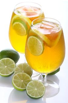 Citrus Cocktail With Lime Royalty Free Stock Images