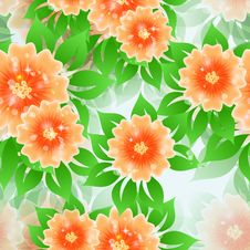 Free Floral Seamless Pattern. Stock Image - 33197621