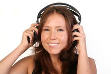 Free Woman With Headphones Royalty Free Stock Photos - 33198198