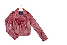 Free Red Vegan Leather Jacket 2 Royalty Free Stock Photo - 33199305