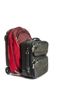Free Two Pieces Of Travel Luggage Isolated Stock Photos - 33199313