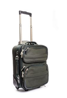 Free Small Green Travel Luggage Isolated 2 Royalty Free Stock Photo - 33199335