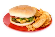Free Cheese Burger Royalty Free Stock Photos - 33199628