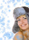 Free Girl In Winter Fur-cap Royalty Free Stock Photo - 3327855