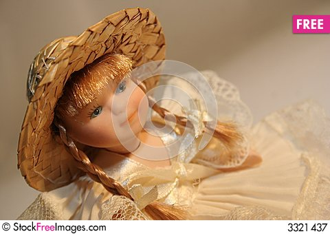 Free Doll With Hat Royalty Free Stock Photography - 3321437