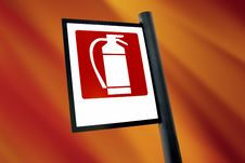 Free Fire Extinguisher Sign (4) Stock Photo - 3321130
