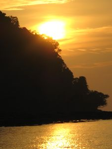 Free Sunset Over Trang Thailand Royalty Free Stock Photography - 3321187