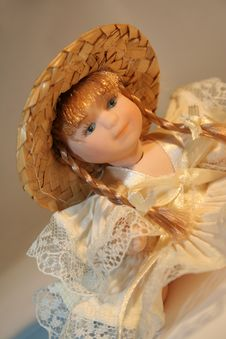 Free Doll With Hat And Plait Stock Images - 3321414