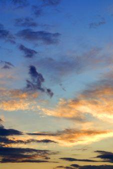 Gaudy Sunset Sky Stock Photos