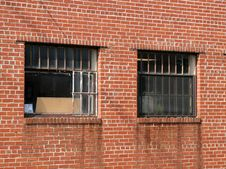 Free Bricks And Old Windows Royalty Free Stock Photo - 3322055