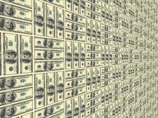 Surface Painted Into Dollars Stock Images
