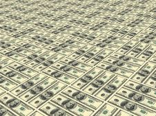 Surface Painted Into Dollars Stock Photo