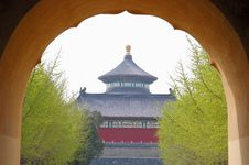 Free Temple Of Heaven In Spring Stock Photo - 3323030