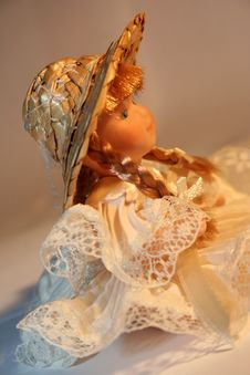 Free Doll With Hat And Plait Stock Photo - 3323440