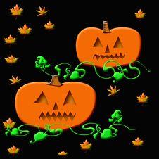 Free Halloween Jack-o -lantern Royalty Free Stock Photography - 3324157