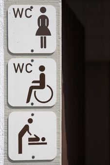 Free Information Signs Toilet Stock Photo - 3324990