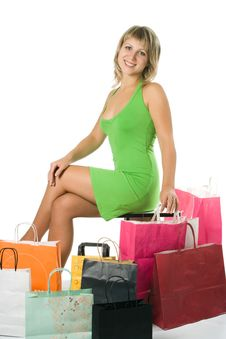 Free Shopping Woman Royalty Free Stock Photo - 3325525