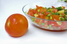 Free Tomato And Salad  Close Up Stock Photography - 3326112