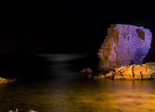 Free Purple Rock Over Night Wather Stock Photo - 3326460