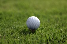 Free Golf Ball Tee Grass Stock Photo - 3326640