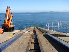 Free Lifeboat Emergency Slipway Stock Image - 3327091