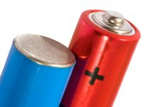 Free Red And Blue Batteries Stock Photo - 3327240