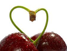 Free Cherries, Heart Shape Stock Image - 3327451