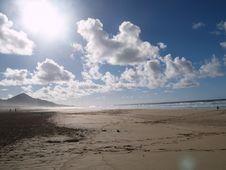 Free Beach Of Cofete Royalty Free Stock Image - 3327596