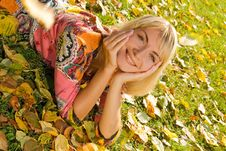 Free Blond Cheerful Girl Stock Photo - 3327830
