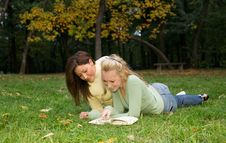 Free Girls At The Park Stock Photo - 3328180
