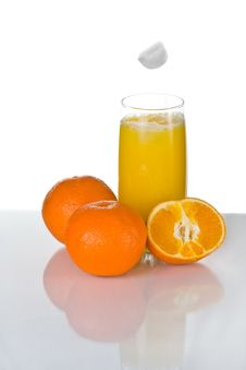 Free Orange Juice With Ice Royalty Free Stock Photo - 3328685