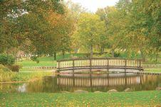 Free Footbridge In Autumn Stock Image - 3329081