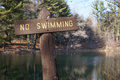 Free No Swimming Sign Stock Photo - 33202130