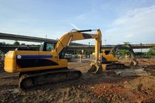 Excavator And Backhoe Royalty Free Stock Photography