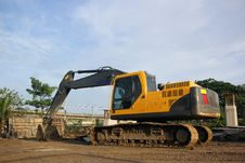 Excavator And Backhoe Royalty Free Stock Photos