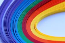 Rainbow Flame Paper For Quilling Royalty Free Stock Photo