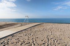 Free Empty Beach Royalty Free Stock Photos - 33229228