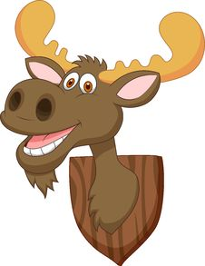 Free Moose Head Cartoon Royalty Free Stock Photo - 33230455