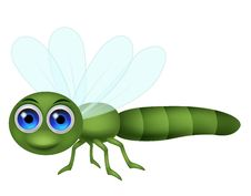Free Dragonfly Cartoon Stock Photo - 33232680