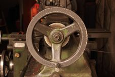 Free Part Of The Old Lathe. Royalty Free Stock Photos - 33233198