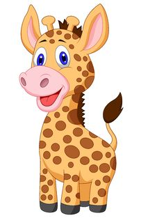 Free Cute Baby Giraffe Cartoon Stock Images - 33233244