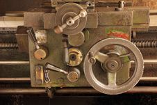 Free Part Of The Old Lathe. Stock Image - 33233451