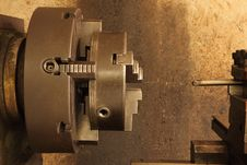 Free Part Of The Old Lathe. Royalty Free Stock Photo - 33233475