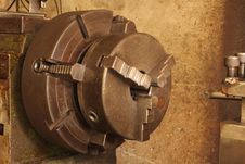 Free Part Of The Old Lathe. Royalty Free Stock Images - 33233489