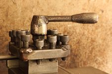 Free Part Of The Old Lathe. Royalty Free Stock Photos - 33233618